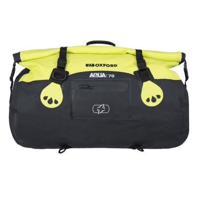 Oxford Aqua T-70 Roll Bag - Black Fluo