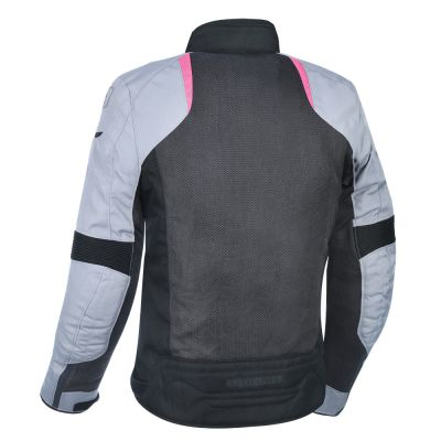 Oxford Iota Air women's summer mesh motorcycle jacket Black/Grey/Pink