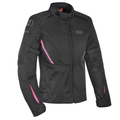 Oxford Iota women's waterproof motorcycle jacket - Black/Pink