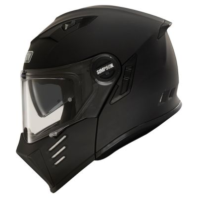 Simpson Darksome Flip Front Modular Helmet - Matt Black