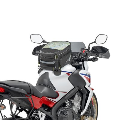 Givi 25Ltr Motorcycle Magnetic Tank Bag - EA102B - Fitted to a Honda