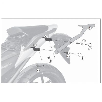 Givi 1111FZ Monorack Fitting Kit - Honda NC700S/X / DCT - Instruction Manual