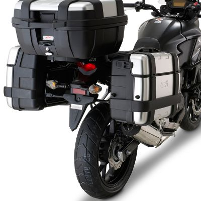 Givi PL1121 Monokey Motorcycle Pannier Rails - Honda CB500X - Fitted with luggage