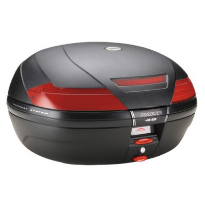 Kappa K49N 47 Litre Monokey Top Box - Black with Red Reflectors