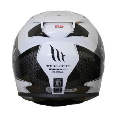 MT Rapide Global Full Face Helmet - White Grey