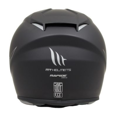 MT Rapide Full Face Helmet - Matt Black