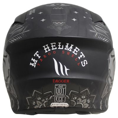MT Targo Dagger Full Face Helmet - Matt Black Grey