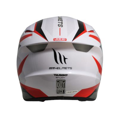 MT Targo Enjoy Full Face Helmet - White Red