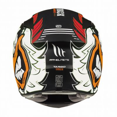MT Targo Truck Full Face Helmet - Black White