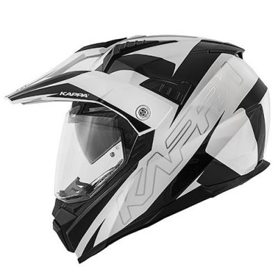 Kappa KV30 Enduro - Flash Gloss Blk/White