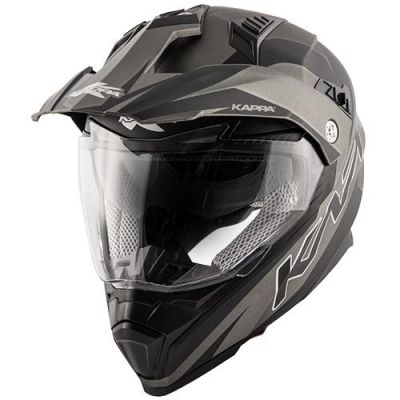 KV30 Enduro Flash Matt Black/Titanium front