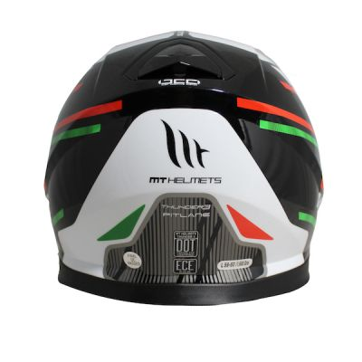 MT Thunder 3 Pitlane Full Face Helmet - Green White Red