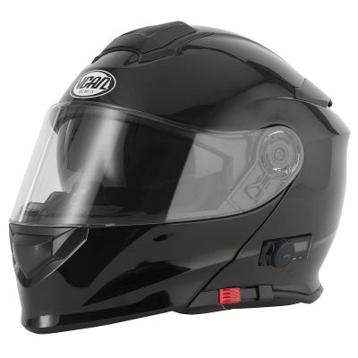VCAN V271 Blinc Bluetooth Flip Front Motorcycle Helmet - Gloss Black
