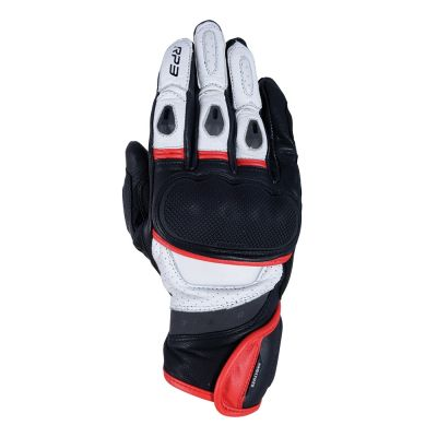 Oxford RP-3 2.0 Short Sports Leather Glove - Black/White/Red