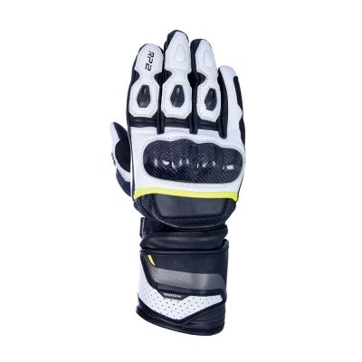 Oxford RP-20 2.0 Long Sports Leather Glove - Black/White/Fluo