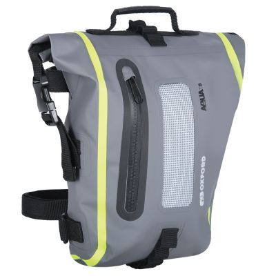 Oxford Aqua T8 Tail Bag - Black Grey Fluo