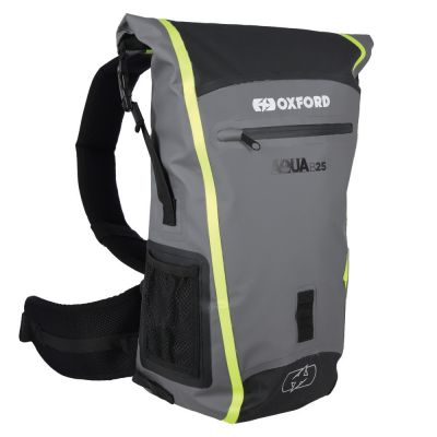 Oxford Aqua B-25 Hydro Backpack - Black Grey Fluo