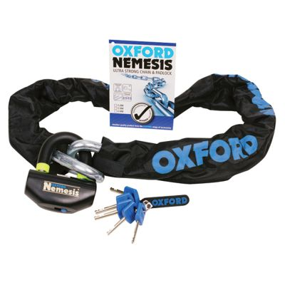 Oxford Nemesis Chain and Padlock - 16mm round link