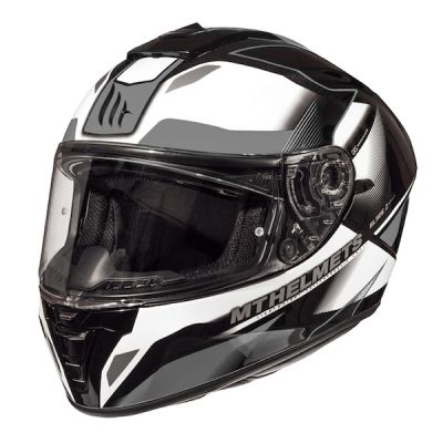 MT Bade 2 SV Fugue Full Face Helmet - White Grey