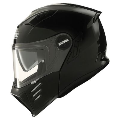 Simpson Darksome Flip Front Modular Helmet - Gloss Black