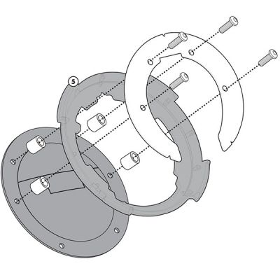Givi Tanklock Attachment Flange Kit - BF12