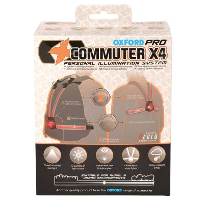 Oxford Commuter X4 Pro Rear Rider light - packaging