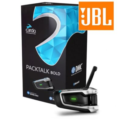 Cardo PackTalk Bold Bluetooth Intercom Headset with JBL Speakers - Single