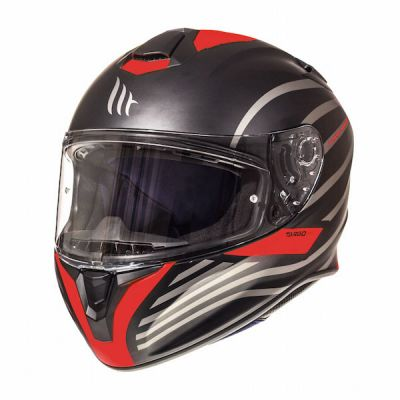 MT Targo Doppler Full Face Helmet - Matt Black Red
