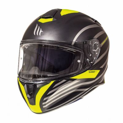 MT Targo Doppler Full Face Helmet - Matt Black Flu Yellow