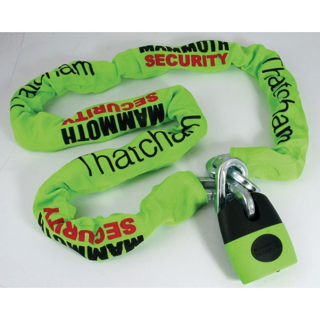 Mammoth Square Link Lock and Chain - 12mm x 12mm x 1.2m