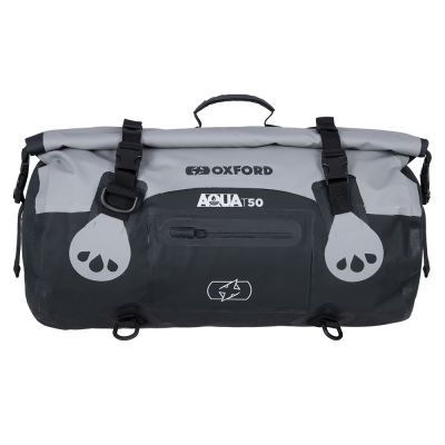 Oxford Aqua T-50 Roll Bag - Grey Black