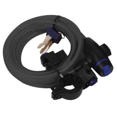 Oxford Cable Lock 12mm x 1800mm - Smoke