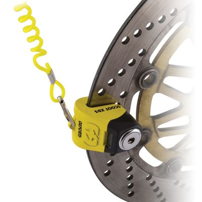 Oxford Scoot XD5 Disc Lock (5mm Pin) - Yellow/Black