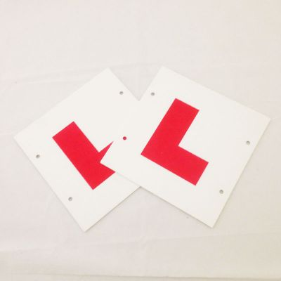 Hard L plates with tie holes