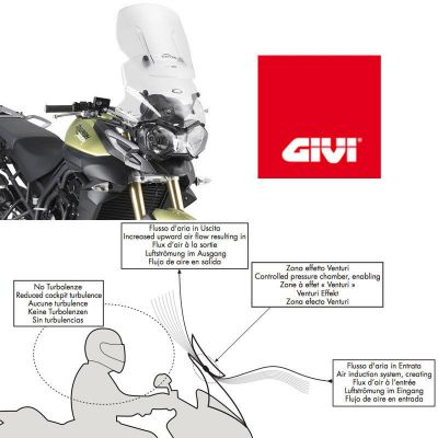 Givi AF6401 Airflow sliding screen features
