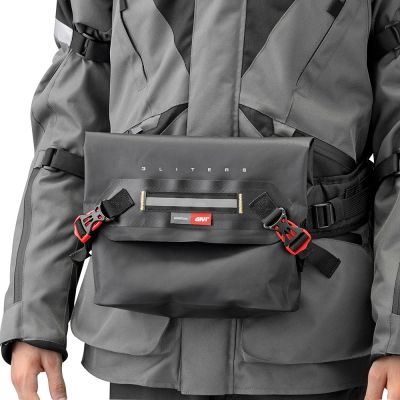 Givi 3Ltr Motorcycle Waist Bag - GRT704 - Wearing on Front