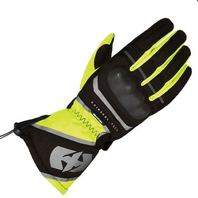 Oxford Montreal 100% Waterproof Motorcycle Glove - Black/Fluo front
