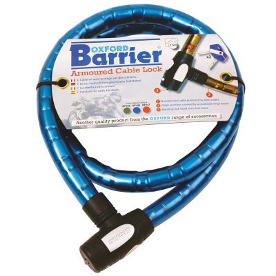 Oxford Barrier Armoured Cable Lock - Blue
