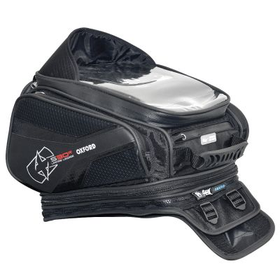 Oxford OL345 S30R Strap-On Motorcycle Tank Bag - 30 Litres - Front