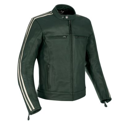 Oxford Bladon Leather Jacket - Green