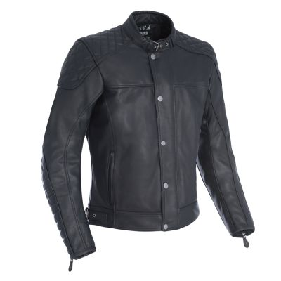 Oxford Hampton Leather Jacket - Black