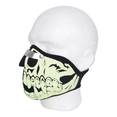 Oxford Face Mask - Glow Skull