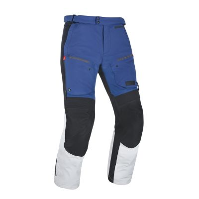 Oxford Mondial Advanced Laminate Motorcycle Tousers - Grey/Blue/Red