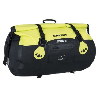 Oxford Aqua T-30 Roll Bag - Black Fluo
