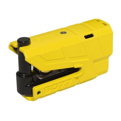 Abus Granit 8077 Detecto Alarmed Disc Lock - Yellow