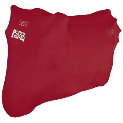 Oxford Protex Stretch Indoor Motorcycle Cover Red