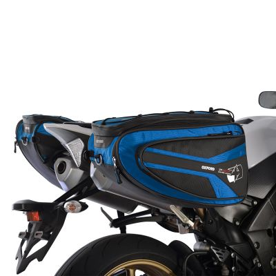 Oxford OL317 P50R Motorcycle Panniers 50 Litres - Blue