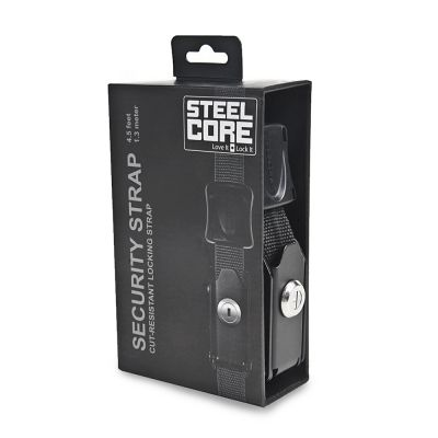 Kriega SteelCore Lockable Security Strap 1.3 mtr - soft luggage security