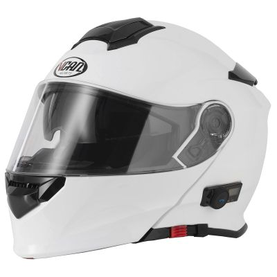 VCAN V271 Blinc Bluetooth Helmet - Gloss White